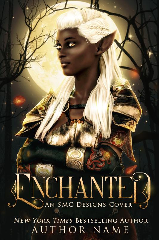 Premade Fantasy Romance Book Cover POC