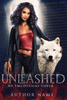 UF premade book cover with POC model wolf shifter