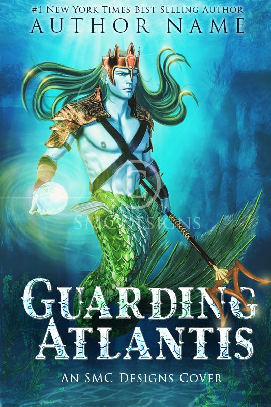 Fantasy Premade Book Cover Merman